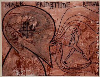 Jose Bedia Valdes Latin Painting