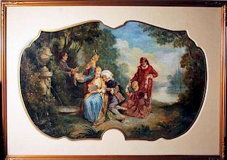 Nicolas Lancret Circle French old master painting HUGE