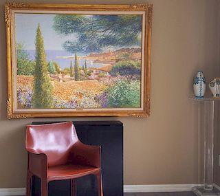 Louis P. Fabien French Belgian Impressionist Painting LARGE