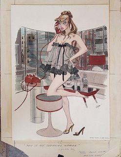 John Ruge Playboy Magazine Illustration