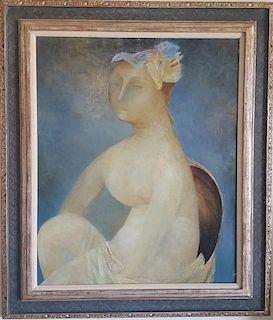 Alex (Sasha) Okun (Russian/Israeli, 1949 - ) Modernist Painting