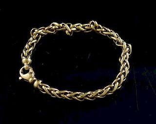 18k man's heavy linked bracelet marked 18k