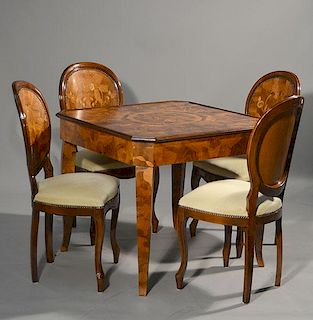 Card Table with Four Matching Chairs