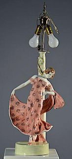 Goldscheider Art Deco Lamp