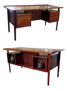Mid-Century Danish Modern Desk for Dansk Design