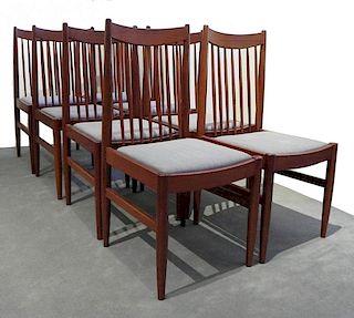 Set of 8 Mid-Century Danish Teakwood Dining chairs