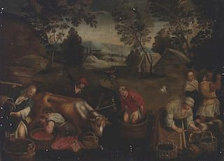 Old Master Painting Wine Making