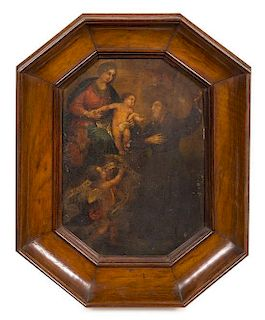 * Artist Unknown, (Italian, 17th Century), Madonna in Glory with a Franciscan Saint