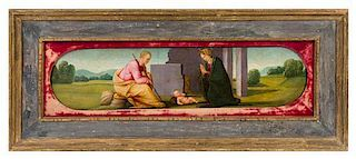 * Previously Attributed to Mariotto Albertinelli, (Italian, 1474-1515), The Nativity, 1503