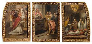 Continental School, (18th/19th Century), The Persecution and Martyrdom of St. Denis (triptych)
