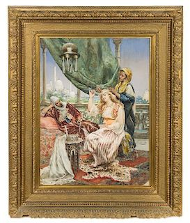 * Ettore Simonetti, (Italian, 1857-1909), Servant and Mistress