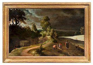 Attributed to Lucas van Valckenborch, (Flemish, 1535-1597), Paysage