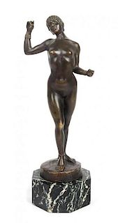 Artur Imanuel Lowental, (Austrian, 1879-1964), Female Nude, 1906