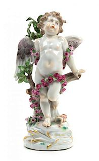 A Meissen Porcelain Figure Height 7 3/8 inches.