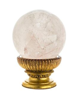 A Rock Crystal Sphere Diameter 11 1/2 inches.