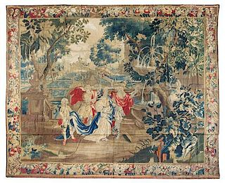 * A Beauvais Wool and Silk Tapestry 8 feet 9 inches x 10 feet 5 inches.
