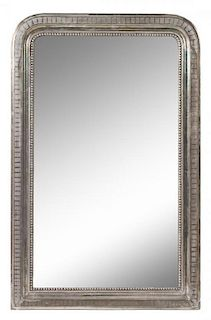 A Louis Philippe Silvered Wood Pier Mirror Height 49 1/2 x width 31 3/4 inches.