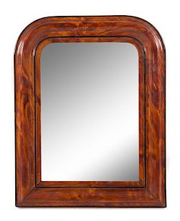 A Louis Philippe Faux Grained Mirror Height 27 x width 21 inches.