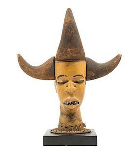 * An Ekoi Wood Female Bust Height 17 7/8 inches.