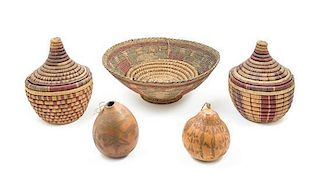 * A Group of African Woven Vessels Diameter of largest 17 inches.