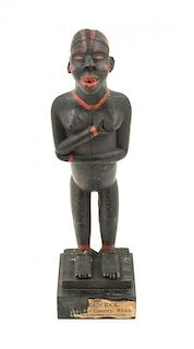 * An African Wood Figure Height 14 inches.