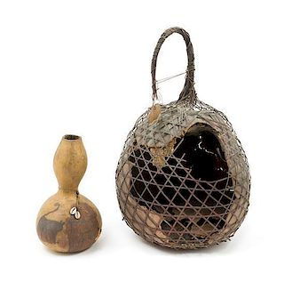 * An African Gourd Basket Height 22 1/2 inches.
