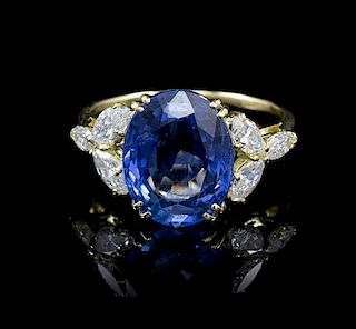 An 18 Karat Yellow Gold and Diamond Ring Setting, Van Cleef & Arpels, 3.40 dwts.