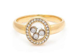 An 18 Karat Yellow Gold and Diamond 'Happy' Ring, Chopard, 4.10 dwts.