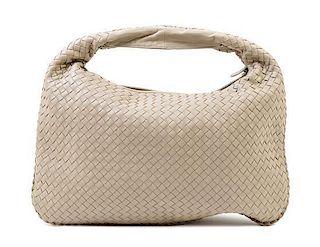 "A Bottega Veneta Taupe Intrecciato Large Hobo Bag, 18"" x 12"" x 1.5""; Strap drop: 6""."
