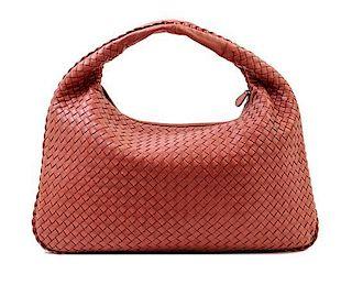 "A Bottega Veneta Cinnamon Intrecciato Large Hobo Bag, 18"" x 12"" x 1.5""; Strap drop: 6""."