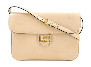 "* A Celine Cream Vintage Shoulder Bag, 11.5"" x 8.25"" x 1.5""; Strap drop: 19""."