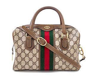 "* A Gucci Monogram Canvas Doctor's Bag, 10.5"" x 9"" x 5""; Handle drop: 3""."