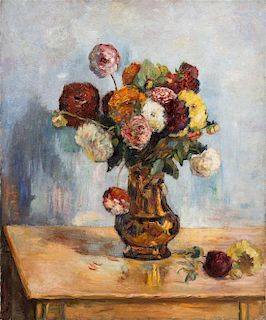 After Paul Gauguin, Floral Table Top Still Life