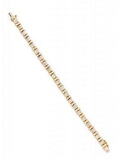 * An 18 Karat Yellow Gold and Diamond 'Les Classiques' Bracelet, Gemlok, 15.55 dwts.