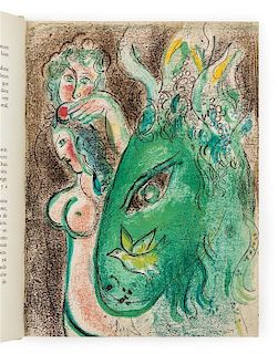 * CHAGALL, Marc (1887-1985). Dessins Pour la Bible. Verve vol. X, nos. 37-38. Paris: Editions de la Revue Verve, 1960.