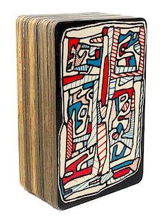 DUBUFFET, Jean (1901-1985). Banque de l'Hourloupe cartes a jouer et a tirer. London: 1967