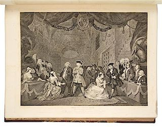 HOGARTH, William (1697-1764) The Works of William Hogarth. London: for Baldwin and Craddock, [ca 1822].