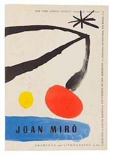 [MIRO, Joan]. JUANES, Juan de. Drawings and Lithographs of Joan Miro. Greenwich, CT: New York Graphic Society, [1960].