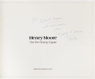 MOORE, Henry (1898-1986). Two works by Moore, comprising: