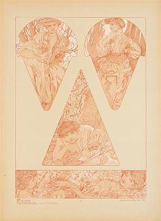 MUCHA, Alphonse (1860-1939). Figures D-coratives. Paris: Librairie Centrale des Beaux-Arts, [n.d.].