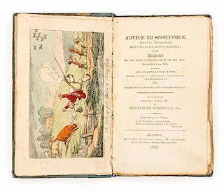ROWLANDSON, Thomas, illustrator -- MAXWELL, Marmaduke, pseudonym. Advice to Sportsmen. 1809. Original boards.
