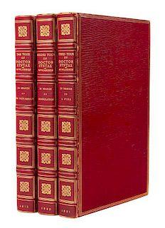 ROWLANDSON, Thomas (1756-1827), illustrator. -- William COMBE (1742-1823). Three Tours of Dr. Syntax. London: Ackermann, [181