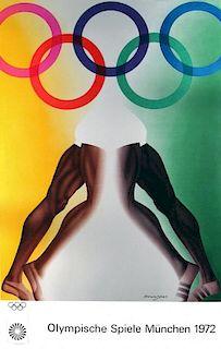 Allen Jones Original Olympische Spiele München 1972 Lithograph Class 3