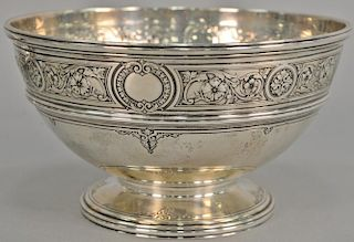Sterling silver footed bowl. ht. 5in., dia. 9in., 27.8 troy ounces