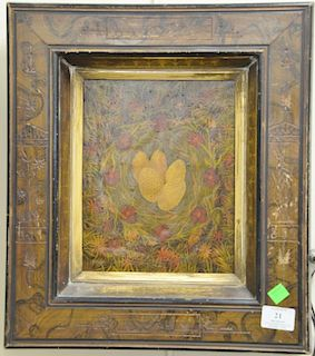 Two oil paintings including Richard Wynn (20th century), oil on masonite, Egg in Nest, signed lower left Richard Wynn, 10 1/4
