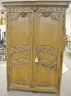 Louis XV style armoire cabinet now fitted drawer and TV hole cut in back. ht. 92in., wd. 57in.