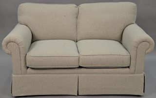 Sherrill upholstered loveseat. lg. 61 in.   Provenance: The Estate of Thomas F Hodgman of Fairfield, Connecticut