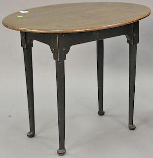 "David Smith custom oval tea table. ht. 26 1/2 in., top: 22"" x 32"""