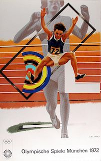 Peter Phillips Olympische Spiele München 1972 Lithograph Class 2