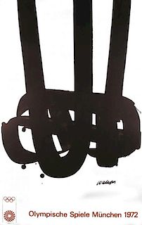 Pierre Soulages Olympische Spiele München 1972 Lithograph Class 2